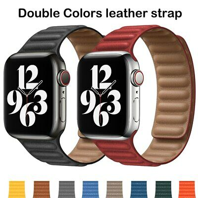 AU20.91 • Buy Magnetic Leather Link Bracelet IWatch Strap For Apple Watch Band Series 6 SE 5 4