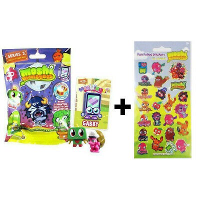 £2.99 • Buy  Moshi Monsters Blind Bag Series 3 Toy And Card AND Reusable Stickers