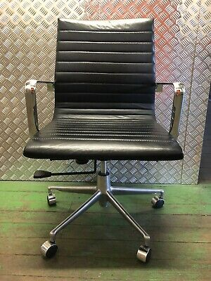 AU76.16 • Buy Black Leather Chrome Base Office Chair
