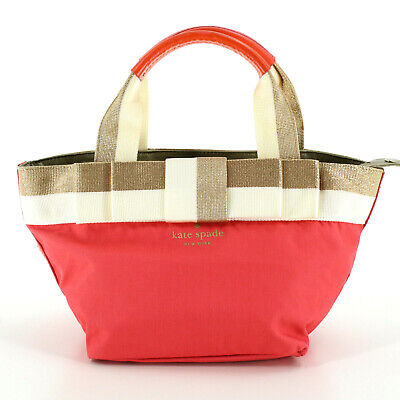 $ CDN60.88 • Buy Kate Spade Canvas & Leather Top Handle Mini Tote Bag In Gold/Pink
