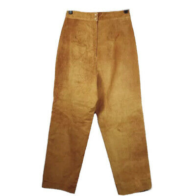 $ CDN100 • Buy Vintage Danier Leather Pants Real Genuine Size Large Tan Suede Trousers Jeans