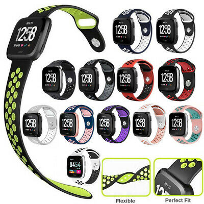 $ CDN6.24 • Buy Sport Silicon Wristband Strap Breathable Watch Band For Fitbit Versa/Versa 2