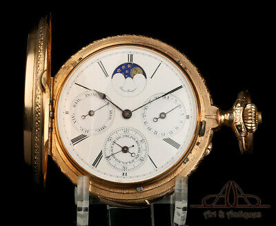 £10292.81 • Buy Antique Girard Perregaux 18K Repeater Pocket Watch. Calendar. Moon Phases. 1915