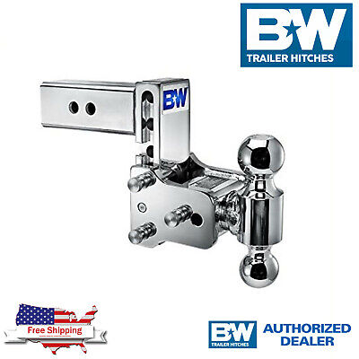 $ CDN418.67 • Buy B&W Tow & Stow Chrome 7  Adjustable Dual Hitch Ball Mount With 2.5  Receiver