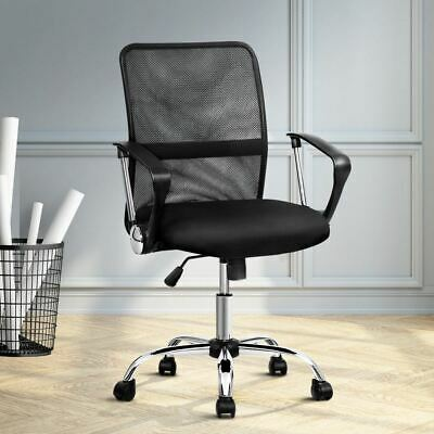 AU78.95 • Buy Office Chair Computer Gaming Mesh Chairs Leather Seat Chrome Base Adjustable
