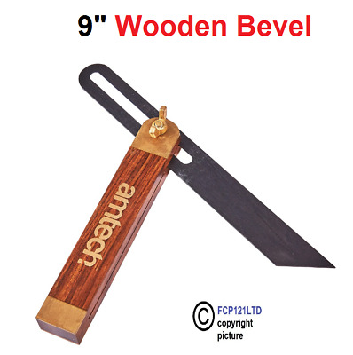 9  Wooden Sliding Bevel Gauge Hardwood Wokers Angle Finder Steel Blade P3370 • 5.45£
