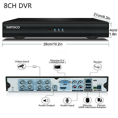 £54.99 • Buy SANSCO 8 Channel CCTV DVR Video Recorder HD 1080N HDMI For Home Security System