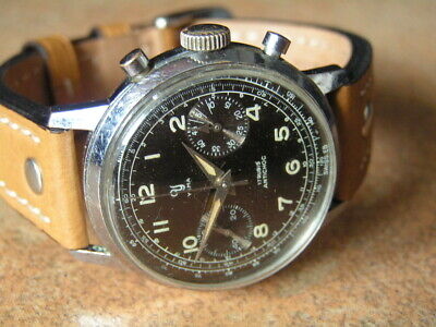 $ CDN3039.36 • Buy Vintage Military / Pilot YEMA Chronograph Valjoux 92 Original Condition 1950'