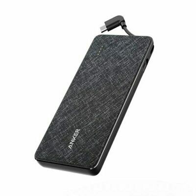 AU99.95 • Buy Anker A1221T11 PowerCore+ 10000 With Type-C Cable Black Fabric