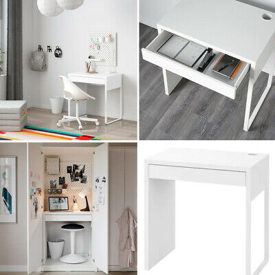 Ikea Micke Home Office Computer White Work Station Table Desk For 73x50 Cm • 68.99£
