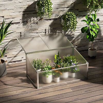 Outsunny Garden Cold Frame Greenhouse Plants Raised Bed PC Board 99x59.5x43.5cm • 42.99£