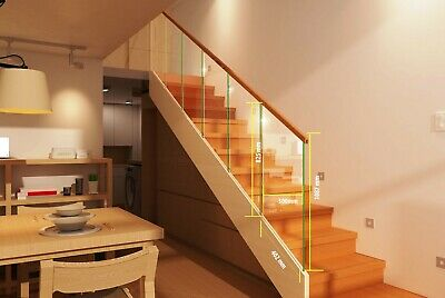 Nidda Glass Panel For Stair Or Landing Staircase 8mm Toughened Glass • 34.99£