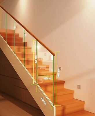 Glass Panel For Stair Or Landing Staircase 8mm Toughened Glass • 30.49£