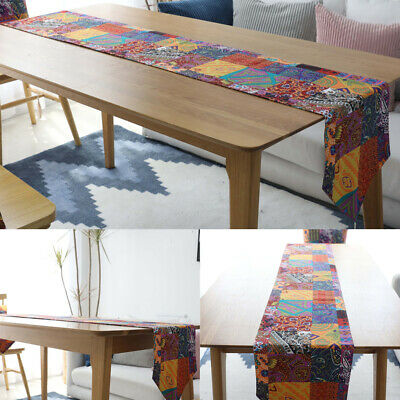 AU24.68 • Buy Boho Table Runner Printed Table Cloth Cover Tablecloth Dining Kitchen Home Decor