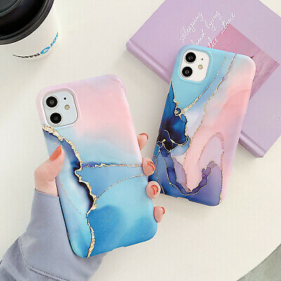 AU9.99 • Buy Slim Fit TPU Marble Case With Stand For IPhone 11 12 Pro Max Xs XR 7 8 Plus SE2