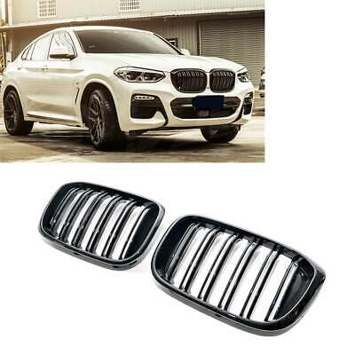 AU168 • Buy Gloss Black X3M X4M Style Front Bumper Bar Kidney Grille For BMW X3 G01 X4 G02