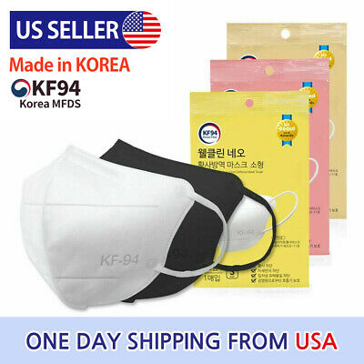 $13.08 • Buy Min 0.99 Per 1pc Well Clean Neo Yellow Dust Defense White Face Mask KF94 - 3Size