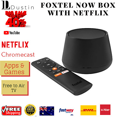 AU122.45 • Buy Foxtel Now Box Built-in Chromecast Tv Android Box 4k Netflix App Remote Hd
