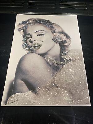 Glitter Marilyn Monroe Picture A4 Print Only NO FRAME With Glitter Diamond Dust • 11.50£