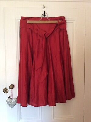 £5 • Buy Principles Red Party Skirt Size 12