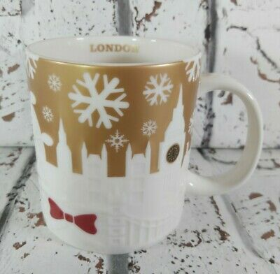 Starbucks Authentic Collectors Edition Christmas Gold London Relief Mug Cup Rare • 59.99£