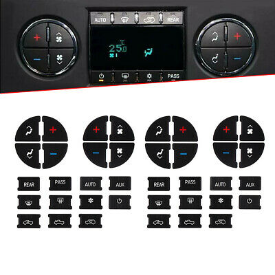 $2.30 • Buy AC Climate Control Button Stickers Kit Dash Decal Replacement For 2007-13 GM