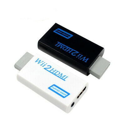 Wii Input To HDMI 1080P HD Audio Output Converter Adaptor Cable 3.5mm Jack White • 3.99£