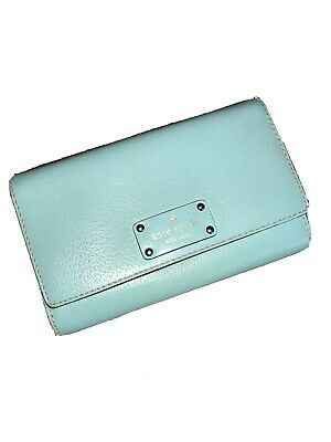$ CDN36.41 • Buy KATE SPADE Leather Clutch, Wallet, Crossbody, Atoll Blue, Turquoise Excellent