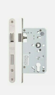 Zoo Mortice DIN Euro Profile Sash Lock Case Body 60mm Backset Stainless Steel • 12.99£