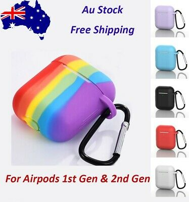 AU9.99 • Buy Shockproof Silicon Slim Skin Charging Case Rubber Cover For Apple Airpods 1 & 2