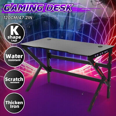 AU169.98 • Buy Gaming Chair Desk Racing Seat Setup PC Black Office Table Foot Combo Furniture