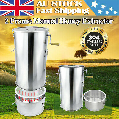 AU203.28 • Buy Filtration + Two Frame Honey Extractor Beekeeping Equipment Manual Honeycomb AU