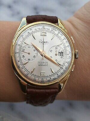 $ CDN630.19 • Buy VINTAGE CHRONOGRAPH LANDERON 187 DATE REWEL MENS 38mm SWISS MADE.JUST SERVICED