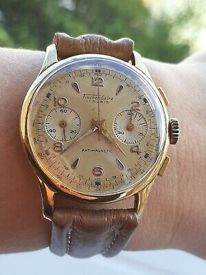 $ CDN630.19 • Buy VINTAGE CHRONOGRAPH VENUS 188 FISHER EXTRA MENS 36mm SWISS MADE.JUST SERVICED