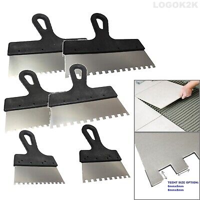 Tiling Adhesive Glue Spreader Square Notched Teeth Serrated Comb Tile Floor Wall • 2.99£