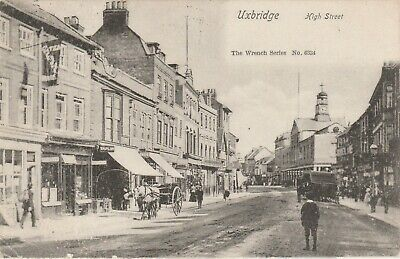 £5 • Buy High Street Uxbridge Old Postcard Posted1909 Wrench Series 6334