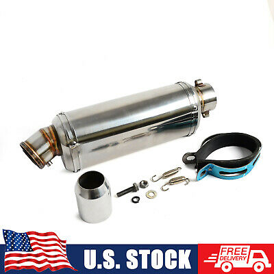 $44.99 • Buy 38-51mm Exhaust Muffler Pipe W/ Removable DB Killer Universal For Motorcycle ATV