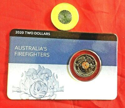 AU21.95 • Buy 2020 $2 Firefighter Two Dollar On Card & Donation Coin Unc Australia Rare