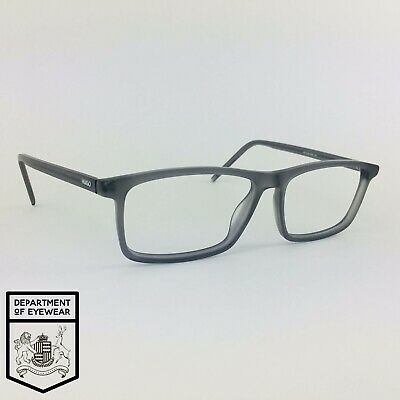 HUGO BOSS Eyeglasses MATT FROSTY GREY RECTANGLE Glasses Frame MOD: HG 1025 RIW • 45£
