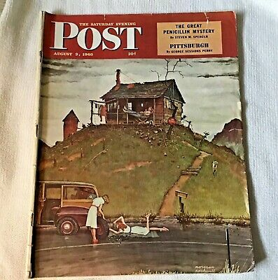 $ CDN20 • Buy Sat.  Evening Post- Post World War 2 - Aug 3, 1946 Norman Rockwell