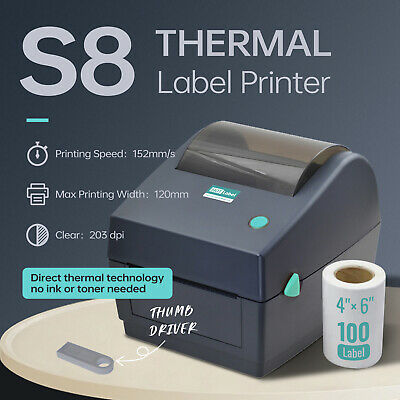 AU148 • Buy 【HOTLabel Upgraded】Label Printer Thermal Shipping Address Barcode 150mm*100mm