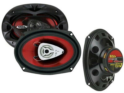 AU55 • Buy BOSS Chaos Exxtreme CH6920 350-Watt 6x9in 2-Way Automotive Speakers - Red