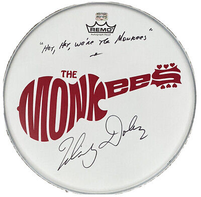 The Monkees Signed Drum Micky Dolenz Autographed Drumhead Proof Jones Tork Nez • 202.28£