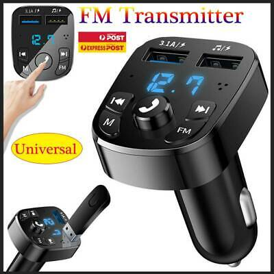 AU14.99 • Buy Handsfree Wireless Bluetooth Car Kit FM Transmitter Dual USB Charger MP3 Player