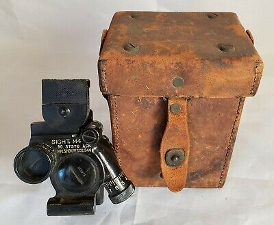 $169 • Buy US ARMY WW2 M4 Sight 60mm Mortar Optik & Leather Carrying Case M14