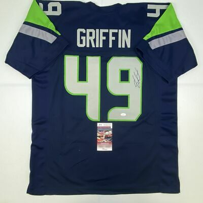 $ CDN112.78 • Buy Autographed/Signed SHAQUEM GRIFFIN Seattle Blue Football Jersey JSA COA Auto