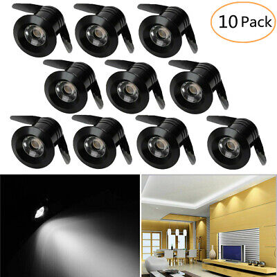£18.89 • Buy 10X LED 1W Recessed Cabinet Lamp Indoor Spot Light Ceiling Downlight Kit Fixture