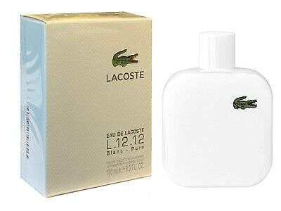 New Sealed Lacoste L.12.12 Blanc Pure 100ml EDT Spray Men Perfume Aftershave • 39.99£