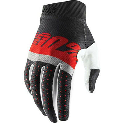 AU42.95 • Buy 100% Percent MX Ridefit Steel Grey/Red Gloves Dirtbike 100 Percent