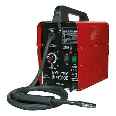 Sealey Professional No Gas/Gassless MIG Welder Repairer 100Amp 230V MIGHTYMIG100 • 134.97£
